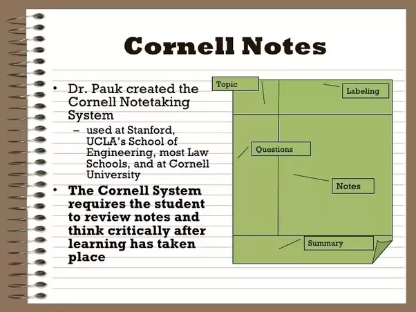 How to Take Cornell Notes pictures