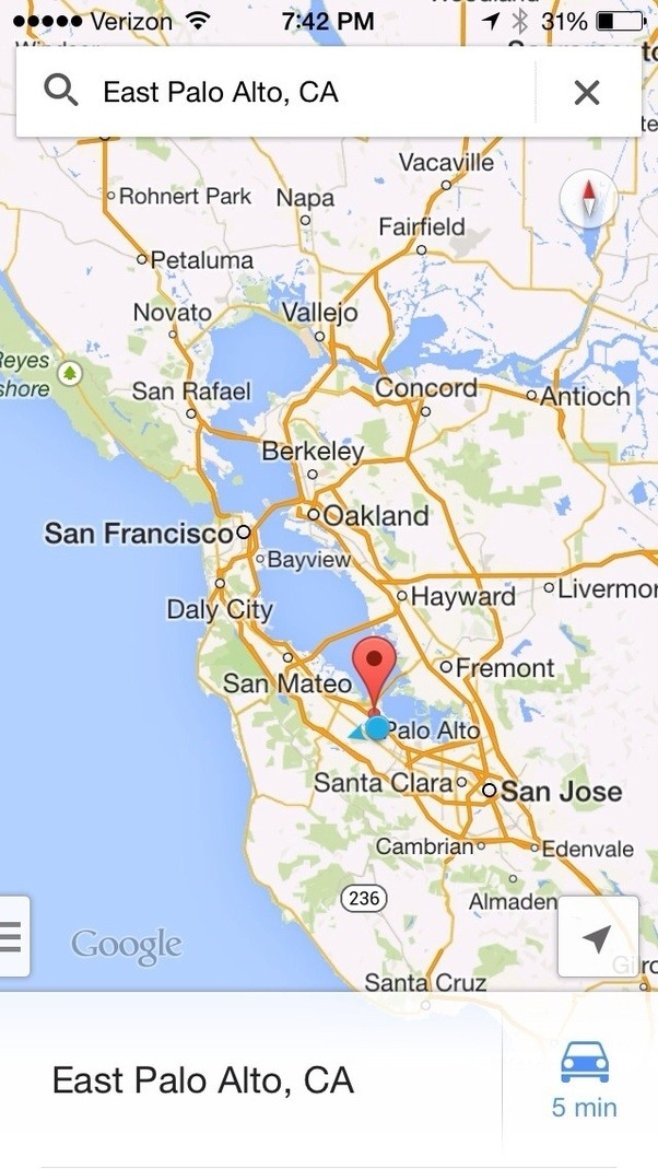 Where Is East Palo Alto Ca Located At On A Map Of