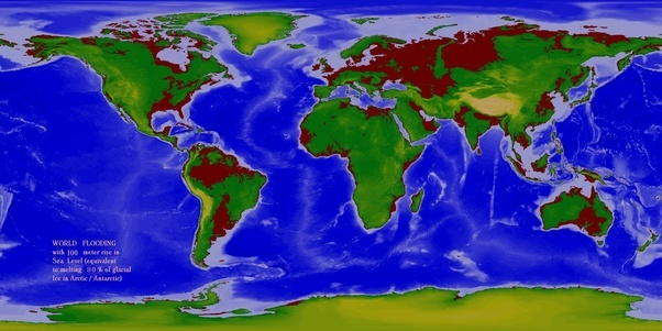 Climate Change What If The Sea Level Rose 300 Meters In