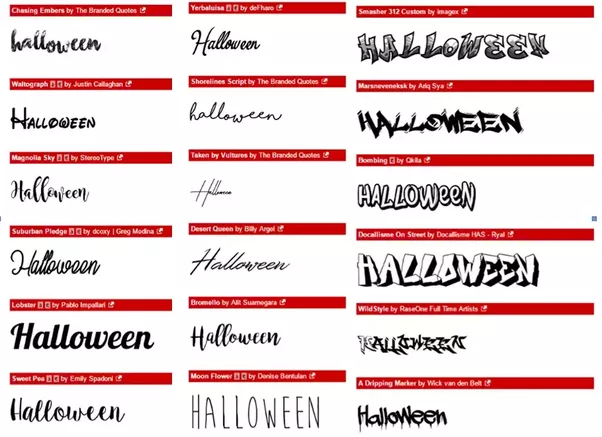 see below for examples from dafont download fonts soem are legible some not so much some are pretty some are sort of scary