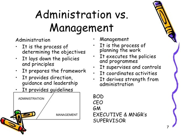"""What is the difference between """"Governance"""", """"Administration"""