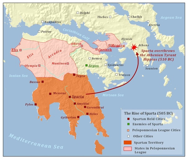 sparta location on world map Why Didn T Sparta Dominate The World Like Rome Did If They Were So