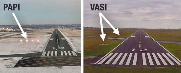 how do pilots judge hitting the end of a runway without using ils