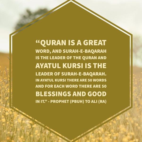 In Islam, what is the benefit of reciting Ayatul Kursi? - Quora