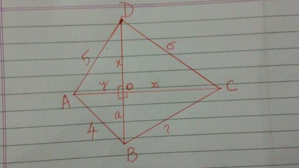 The diagonals of a convex quadrilateral are perpendicular if ab4 given a quadrilateral abcd diagonal ac is perpendicular to db do x ao y co z bo a ccuart Gallery