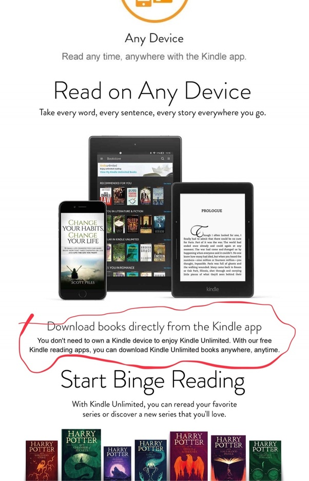 Can I take Kindle Unlimited membership without a Kindle