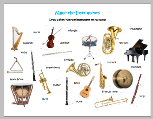 Musical Instruments Names