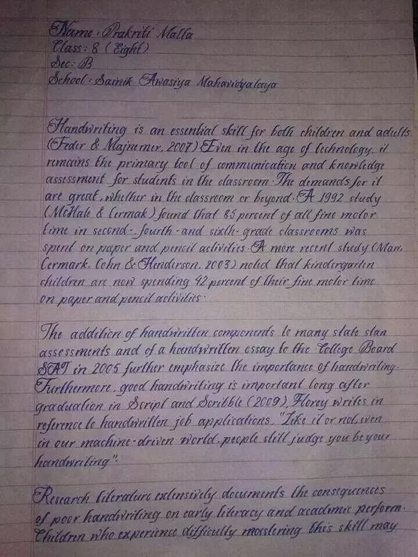 world beautiful handwriting