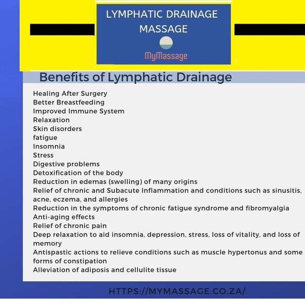 What are the benefits of lymphatic drainage massage? - Quora