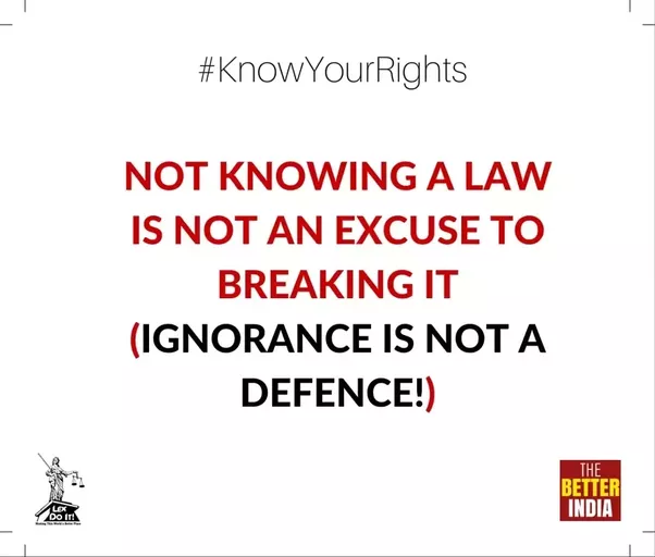 ignorance is not an excuse essay Most people are familiar with the legal principle that ignorance of the law is no excuse this age-old rule prevents individuals from avoiding prosecution by claiming that they did not know their conduct was illegal.