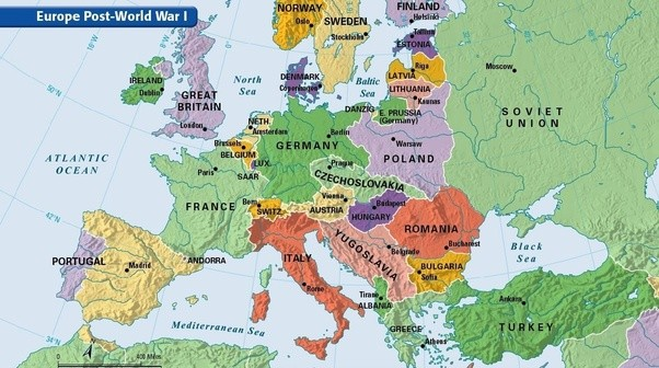 In what ways did the world map change following world war 1 quora in these maps you see 9 new countries created the central powers empires had been split between new countries and protectorates with all new countries sciox Images