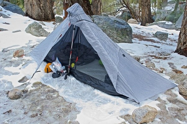 Here is my Gatewood Cape with the separate Serenity NetTent set up at Mt. Whitney portal during a very cold spring c&ing trip. & What is the best ultralight poncho tarp? - Quora
