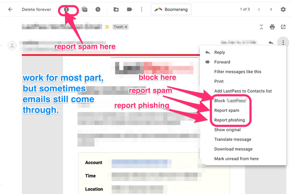 How to do block unwanted email from my gmail account - Quora