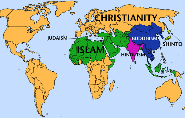 the last map is a simplification but shows the historically dominant religion around the world in china japan and vietnam religion is very complicated