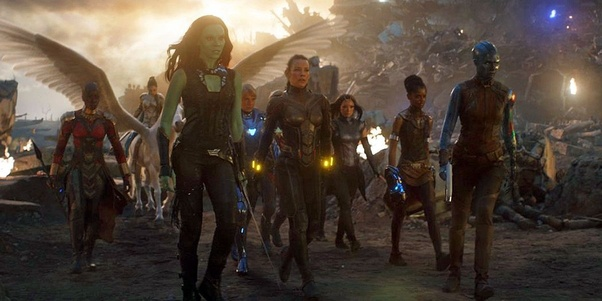 Why did all the female characters come together at one spot in Avengers:  Endgame? There was no in-world reason or explanation for that to occur  during a massive multi-front battle. - Quora