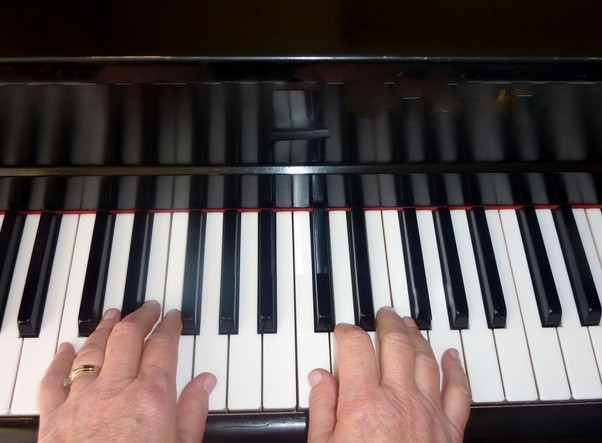 In Piano Where Do You Position Your Hands For G Major Versus C