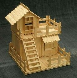 Made By Gluing Together Popsicle Sticks This Post Ice Pop House Is The Perfect Craft To Make