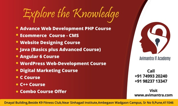 Which Institute In Pune Offers Certification For A Php Course Quora