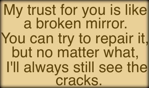 Restore trust in a relationship again