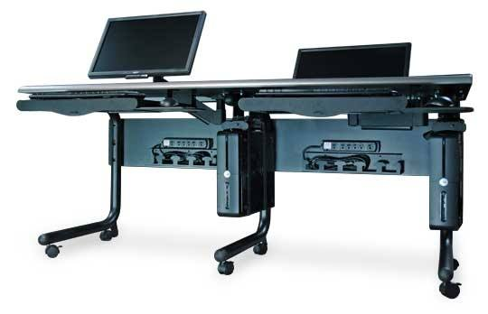 The Horizonline Monitor Lift Computer Desks Are Prefect Solution To Make Collaborative And Learning Environment This Furniture Is Featured With A Popup