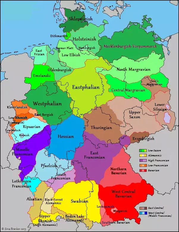 for the many indigenous regional ethnicities i point you simply to this map of dialects which effectively mark the borders of these regional identities