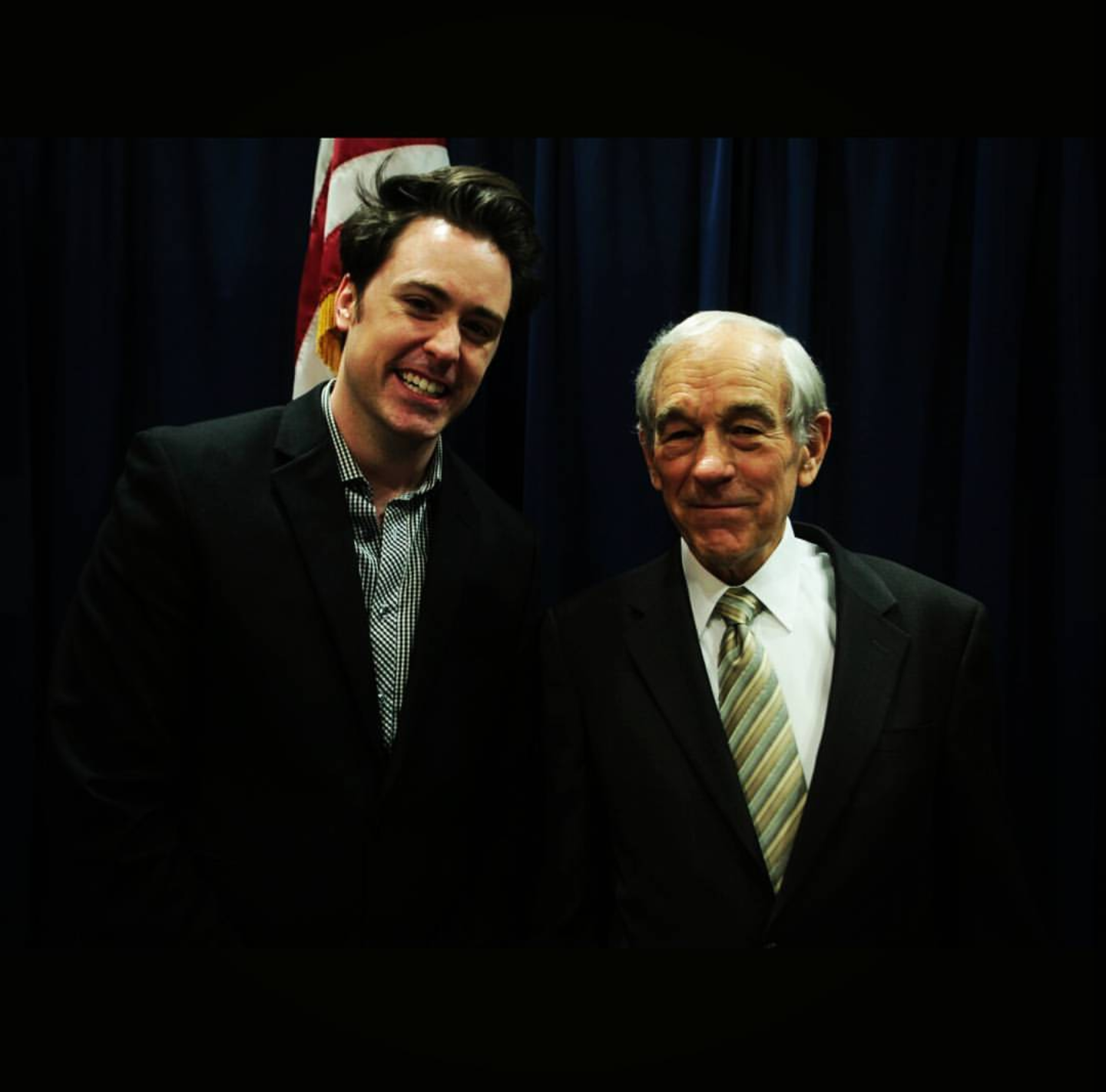 Joshua D Glawson with Ron Paul