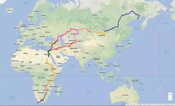If you were going to drive the shortest route between two points if you were going to drive the shortest route between two points on earth which route would be the longest road trip at no point should the vehicle leave gumiabroncs Choice Image