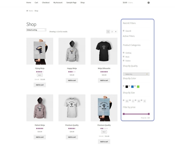How to to add WooCommerce product filter in WordPress theme - Quora