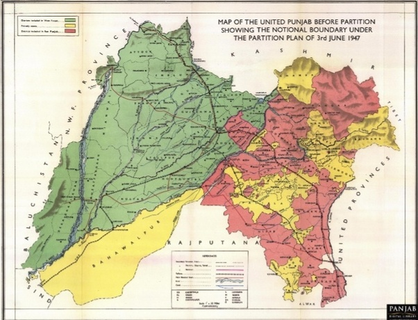 Is there a Punjab in Pakistan as well as India? - Quora