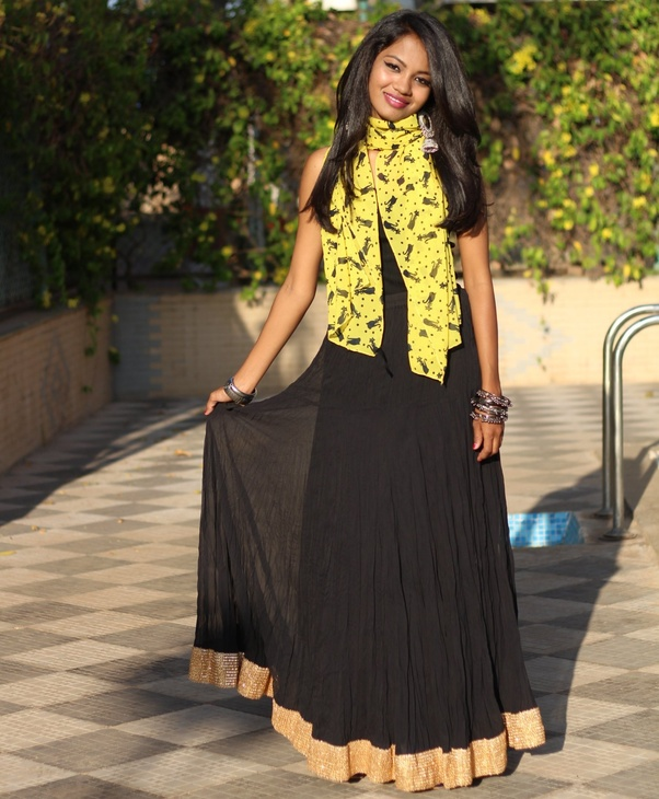 22e6a1fd0e If you are planning to wear a black maxi skirt you can pair it with a black  sleeveless top like me. I am sure this combination will make you stand out  in ...