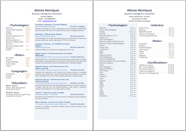 is a one-column resume or a two-column resume better