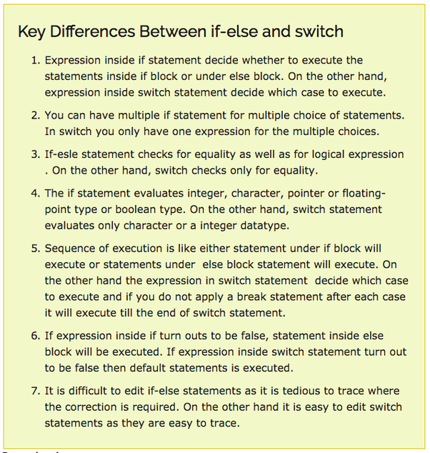 Case Statement Case Statement: What Is The Difference Between Nested If And Switch Case