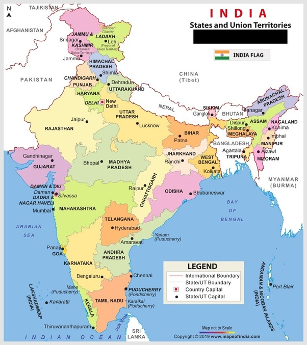 map of india with states and capitals and union territories 2020 How Many States Are There In India Quora map of india with states and capitals and union territories 2020
