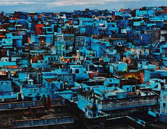 Which cities in India are associated with a colour?