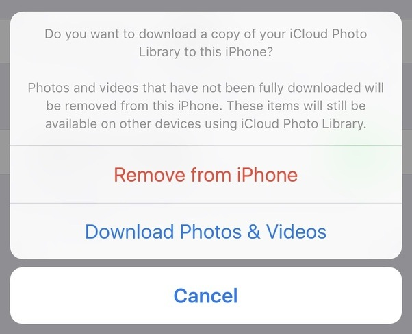 what will happen to my photos in my iphone if i turn off icloud