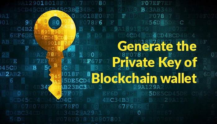 How to generate the private key of my blockchain wallet
