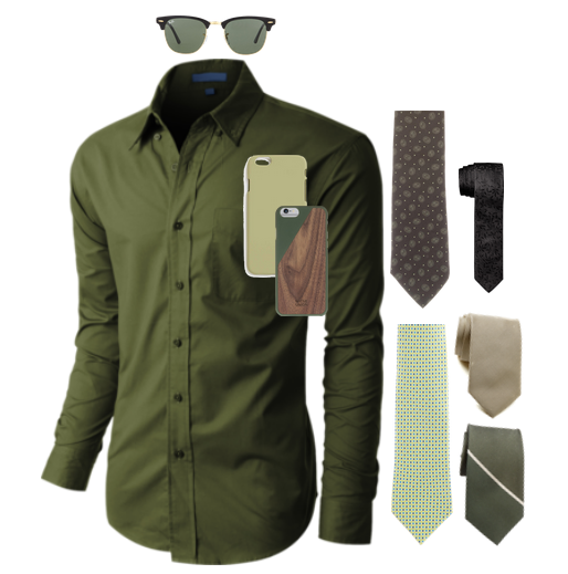Colored dress shirts with complementing ties
