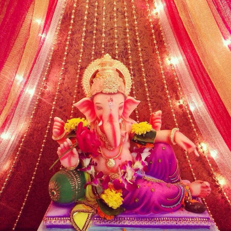 Beautiful Eco Friendly Ganpati Decoration At Home   Itu0027s Time To Welcome Ganpati  Bappa In An Eco Friendly Style.
