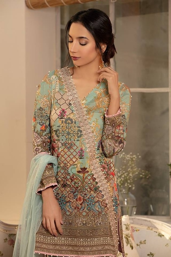 5744ce15e5ffff There are so many brands which offer pret lawn Kurtis, pret chiffon Kurtis  and digitally printed shirts and heavy embroidered readymade kurtis.