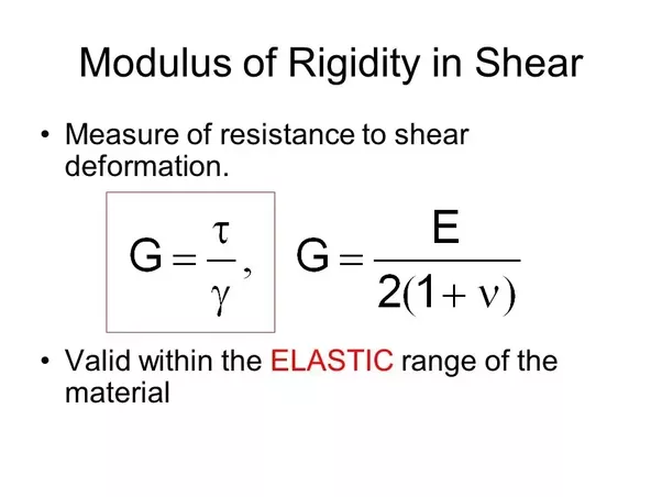 If you want to see the application part of the modulus of Rigidity then you can pay attention to when the materials undergo the Bending process.