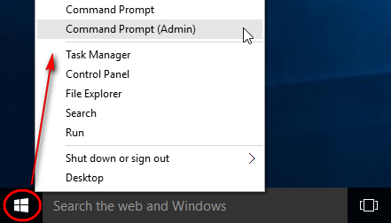 How to activate windows 10 with cmd quora now you have to open the command box with admin permission right click on the start button and select command prompt admin ccuart Choice Image
