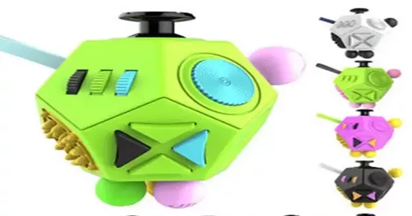 A Fidget Cube Is Used As An Anti Stress And Anxiety Relief Toy They Are In Place Of Clicking Fidgeting With Pen These Cubes Given Away At