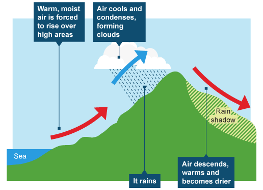 What Is The Distribution Of Orographic Rainfall In India