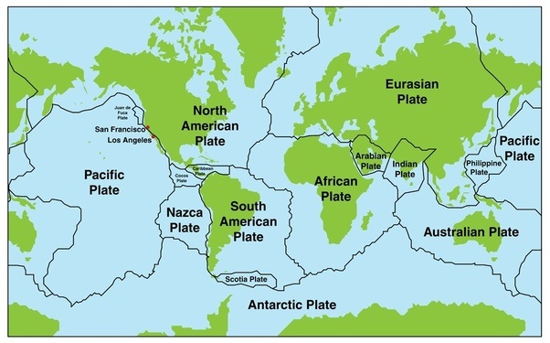 Each continent is separated from one another by sea or ocean but the plates pull apart and push together continents there is no plate that separates europe from asia so the division line is the ural mountains gumiabroncs Gallery