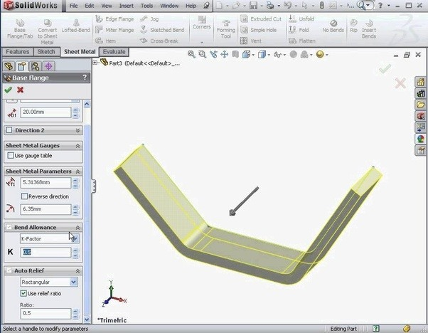 How Can We Develop Sheet Metal 3d Cad Model In Solidworks