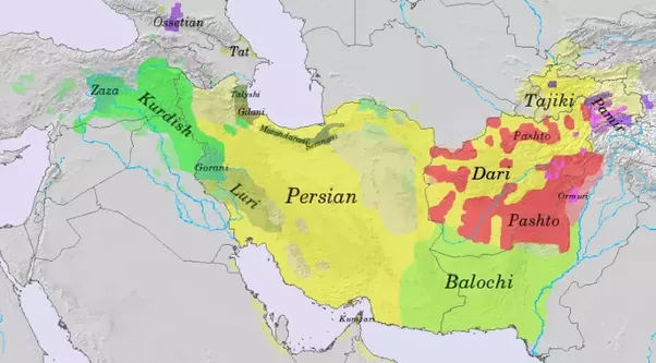 What Are The Many Languages That Could Fall Under The Name - Farsi language map