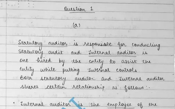 Priya Jains Answer To Does Good Handwriting Increase My Chances Of Passing The CA Final Exam