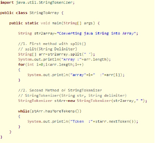 How do convert string to string array in Java? - Quora
