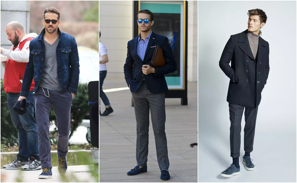 Black Pants With Navy Shoes