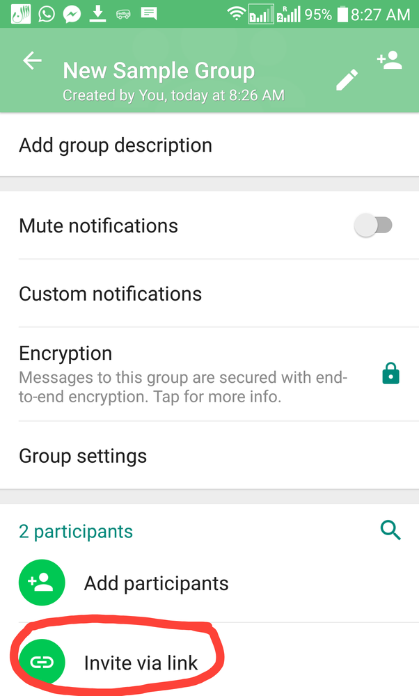 How to share whatsapp group link not admin